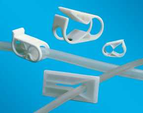 pinch clamps (Polyester) slide clamps (PP/HDPE/ABS) non-re-opening clamps (Nylon)